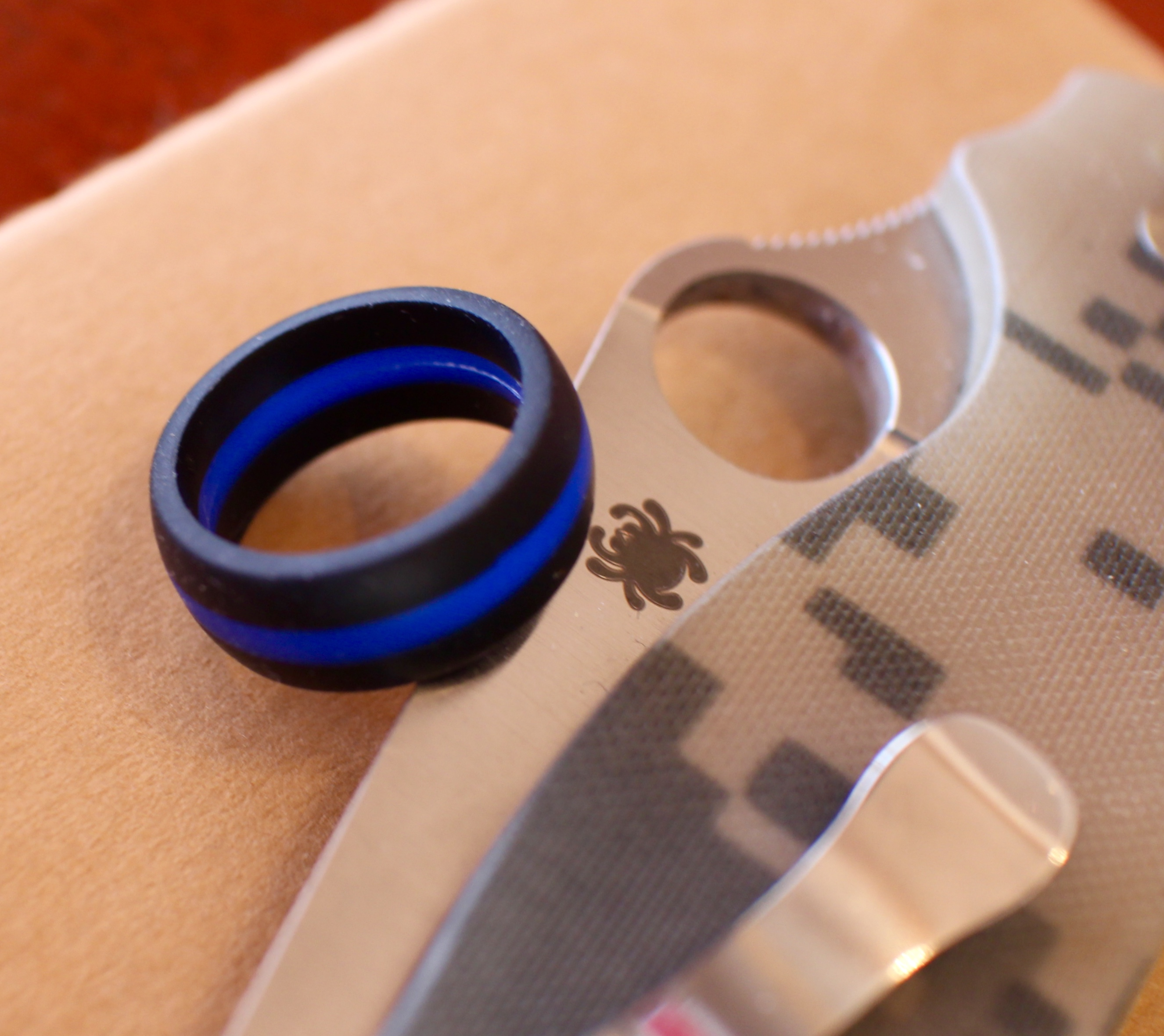 QALO Ring- Thin Blue Line